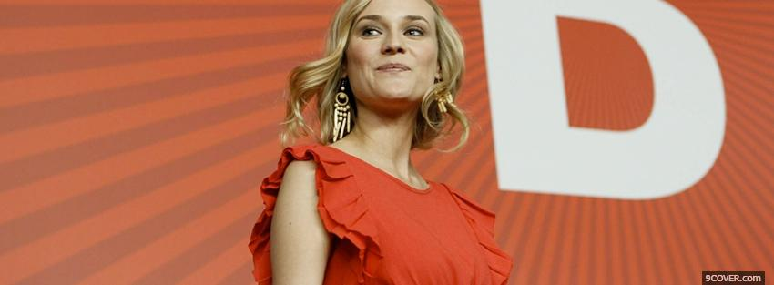 Photo female celebrity diane kruger Facebook Cover for Free