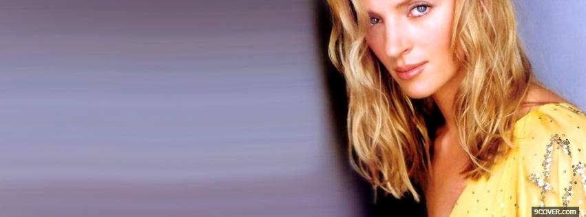 Photo celebrity cool uma thurman Facebook Cover for Free