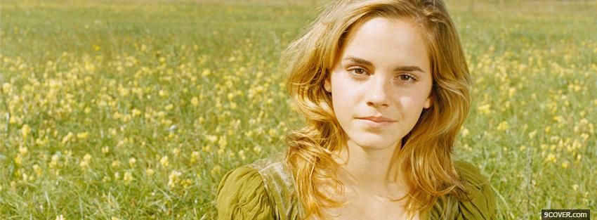 Photo celebrity emma watson natural look Facebook Cover for Free
