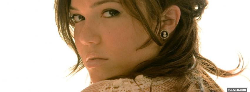 Photo singer mandy moore Facebook Cover for Free