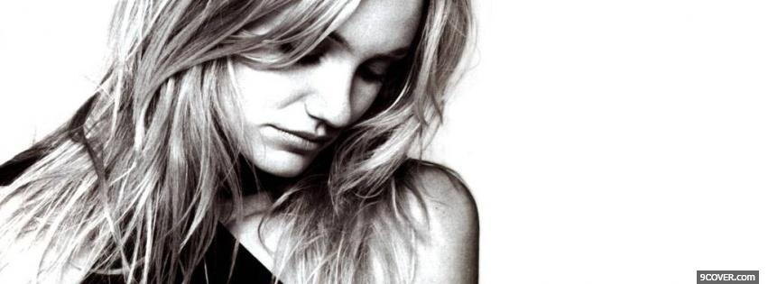 Photo stunning black and white cameron diaz Facebook Cover for Free