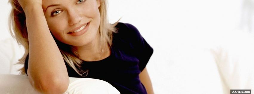 Photo female celebrity cameron diaz Facebook Cover for Free