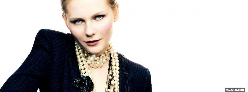 Photo kirsten dunst pearl necklace Facebook Cover for Free