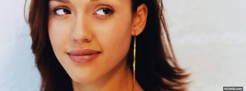 Photo celebrity curious eyes jessica alba Facebook Cover for Free