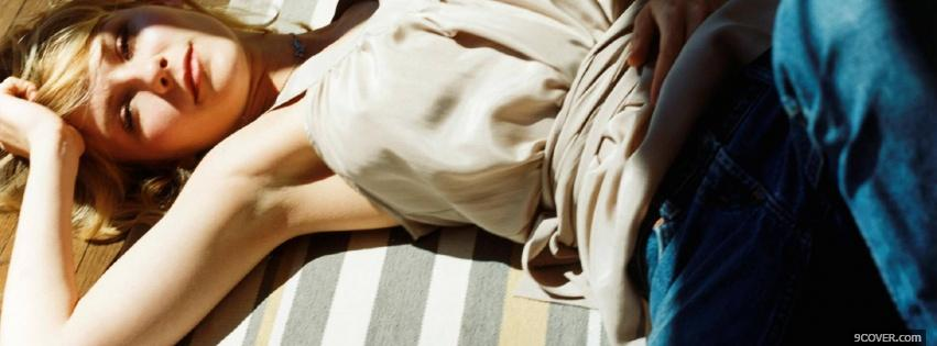 Photo kirsten dunst in the light Facebook Cover for Free