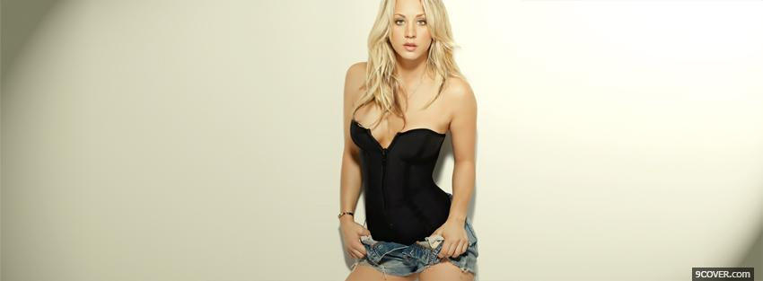 Photo attractive celebrity kaley cuoco Facebook Cover for Free