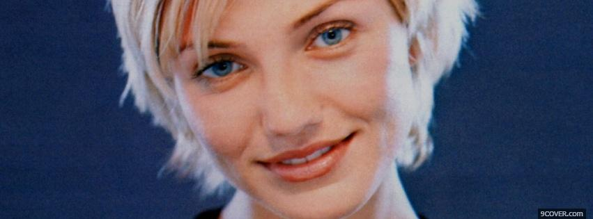 Photo cameron diaz with short hair Facebook Cover for Free