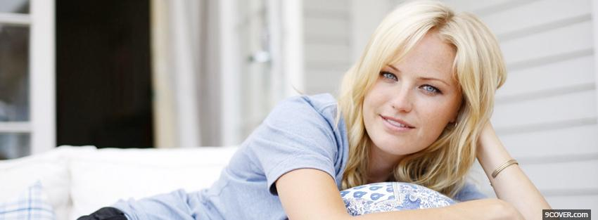 Photo celebrity blond malin akerman Facebook Cover for Free