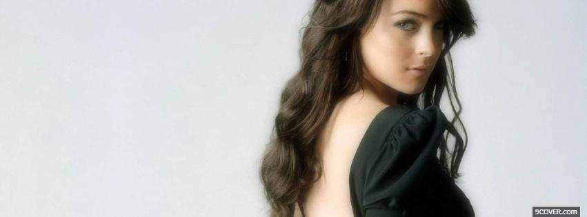 Photo celebrity lindsay lohan nice dark hair Facebook Cover for Free