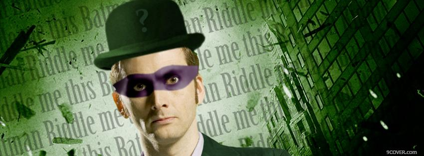 Photo david tennant riddler celebrity Facebook Cover for Free