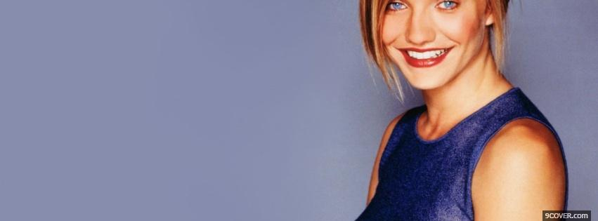 Photo piercing blue eyes cameron diaz Facebook Cover for Free