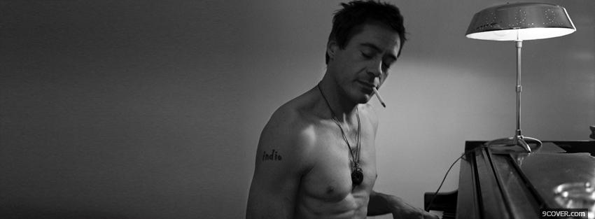 Photo robert downey jr smoking Facebook Cover for Free