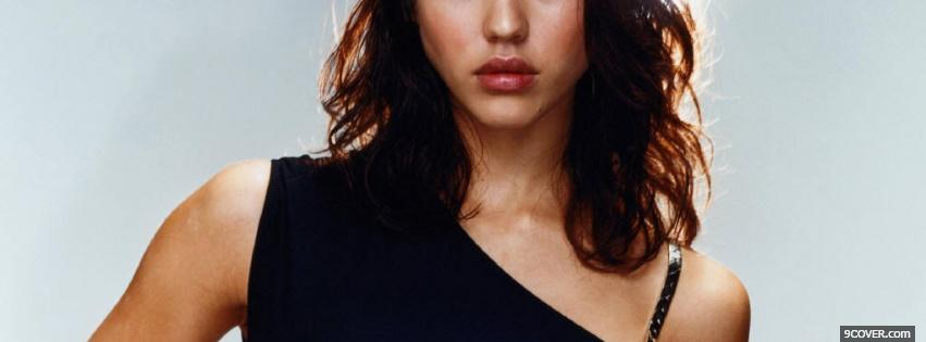 Photo luscious jessica alba lips Facebook Cover for Free
