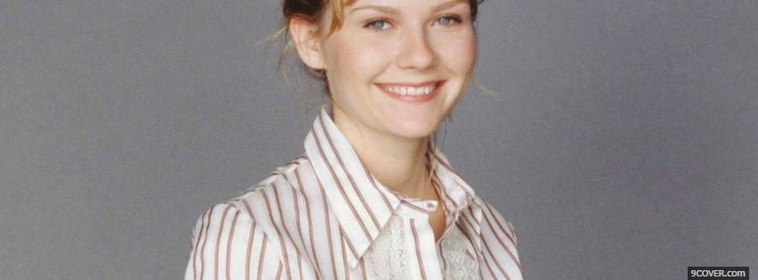 Photo updo hairstly kirsten dunst Facebook Cover for Free
