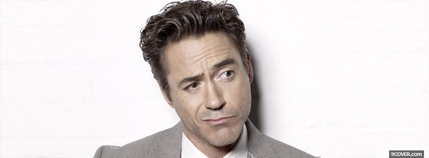 Photo robert downey jr funny Facebook Cover for Free