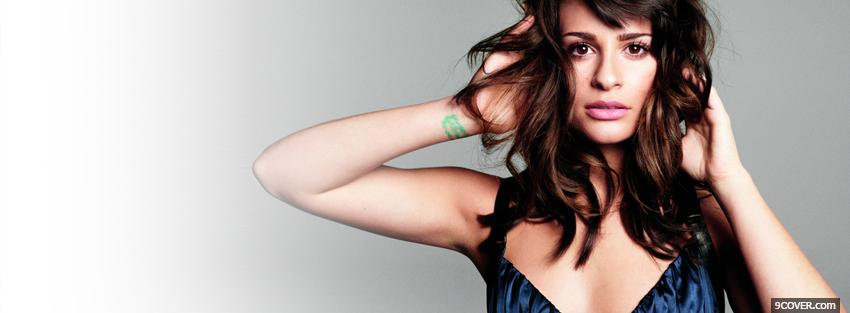Photo sexy lea michele brown hair Facebook Cover for Free