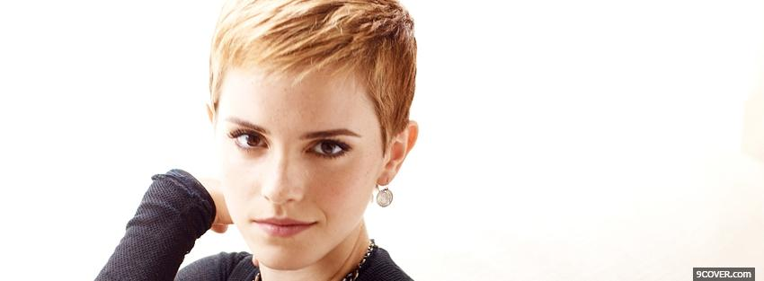 Photo celebrity emma watson with short hair Facebook Cover for Free