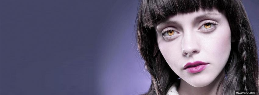 Photo christina ricci gold eyes Facebook Cover for Free