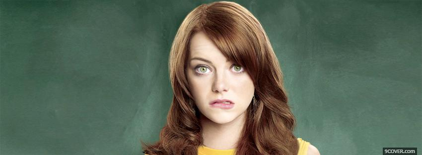 Photo emma stone biting lips Facebook Cover for Free