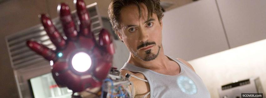 Photo iron man celebrity robert downey Facebook Cover for Free