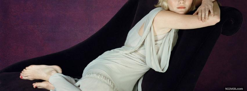 Photo kirsten dunst on chair Facebook Cover for Free