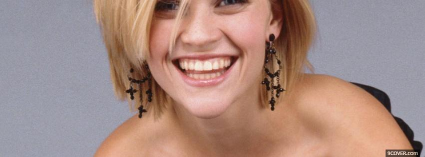 Photo reese witherspoon impressive smile Facebook Cover for Free