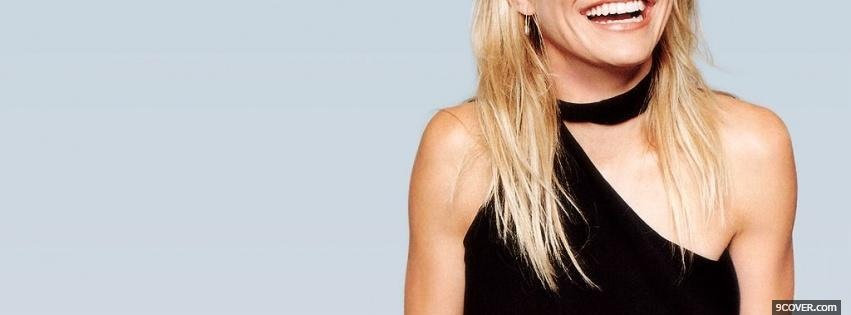Photo celebrity cameron diaz laughing Facebook Cover for Free