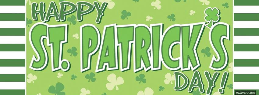 Photo big happy st patricks day Facebook Cover for Free