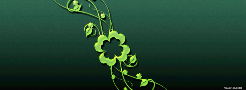 Photo st patrick beautiful delicate plant Facebook Cover for Free