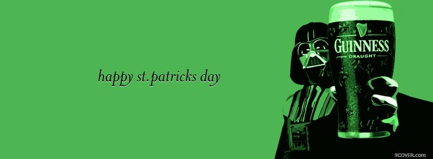 Photo st patrick star wars and guinness Facebook Cover for Free