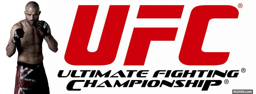 Photo fighter red ufc Facebook Cover for Free
