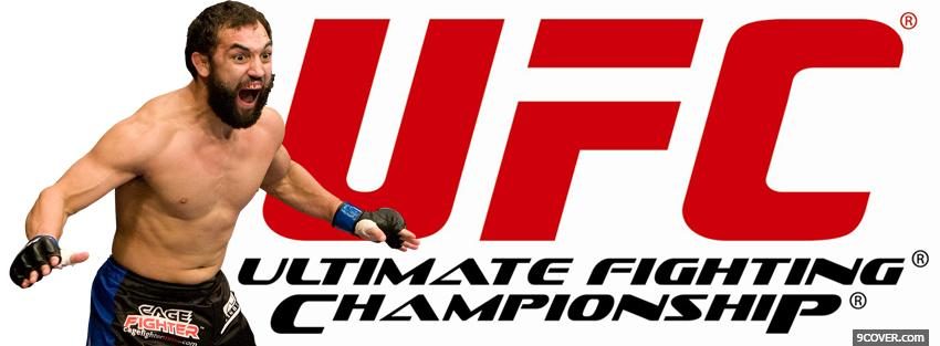 Photo screaming ufc fighter Facebook Cover for Free