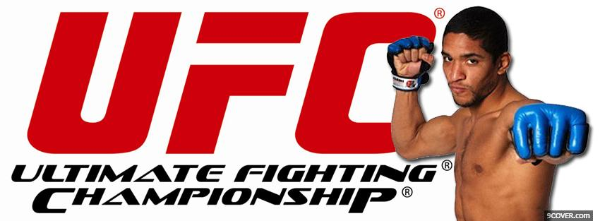 Photo ufc blue gloves Facebook Cover for Free