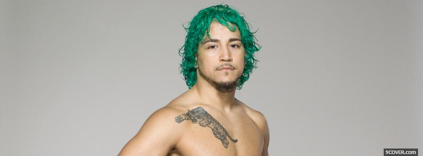 Photo green hair ufc fighter Facebook Cover for Free