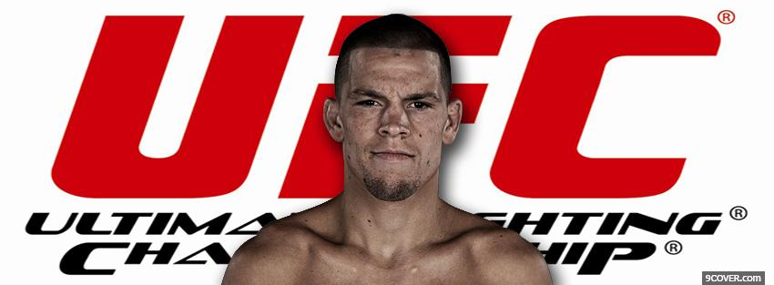 Photo nate diaz ufc logo Facebook Cover for Free