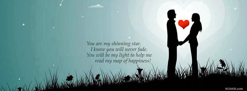 Photo you are my shinning star Facebook Cover for Free