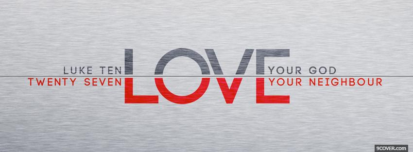 Photo love your god Facebook Cover for Free