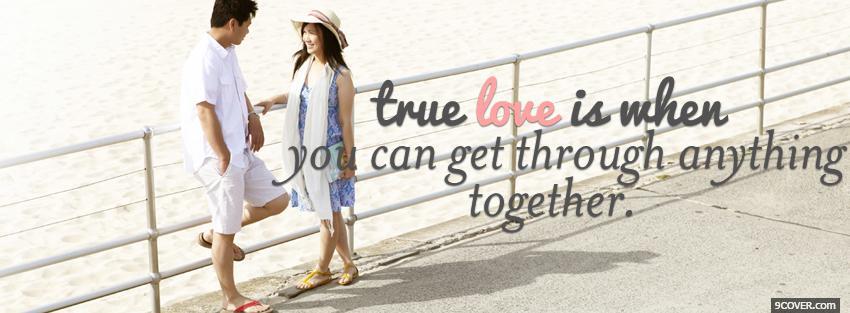 cute true love quotes photo facebook cover