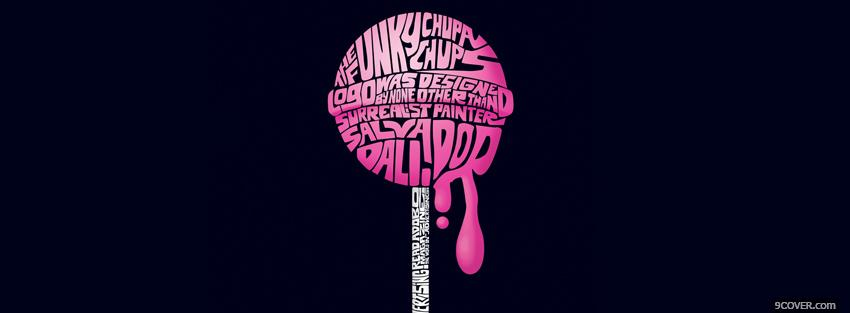 Photo pink lollipop with quotes Facebook Cover for Free