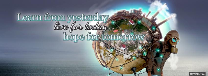 Photo hope for tomorrow quotes Facebook Cover for Free