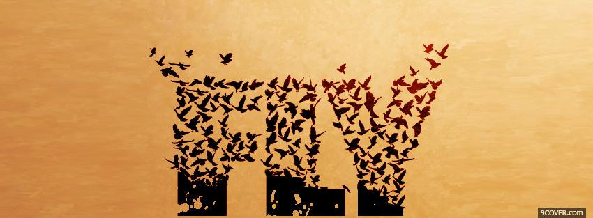 Photo beautiful birds fly quotes Facebook Cover for Free