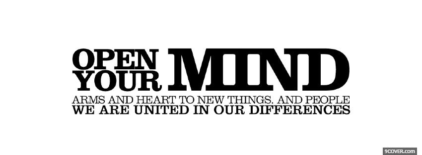 Open Your Mind Quotes Photo Facebook Cover