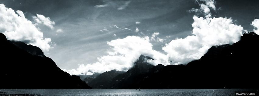 Beautiful Black And White Landscape Photo Facebook Cover