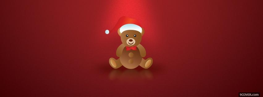 Photo teddy bear and hat Facebook Cover for Free