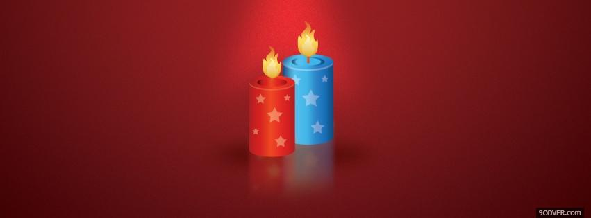 Photo christmas holiday candles Facebook Cover for Free