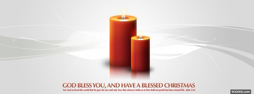 Photo christmas orange candles Facebook Cover for Free