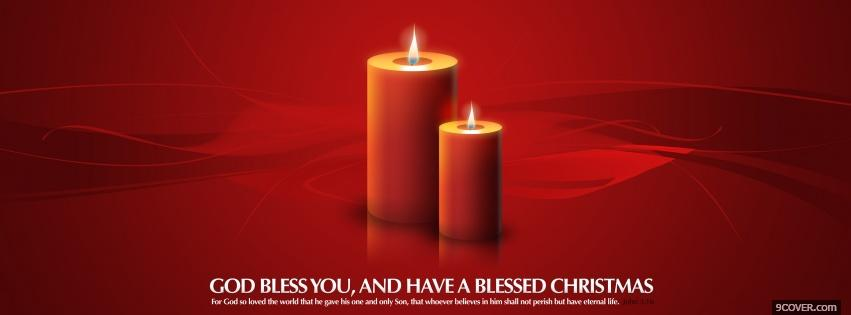 Photo red joyous candles Facebook Cover for Free