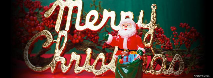 Photo santa claus with gifts Facebook Cover for Free