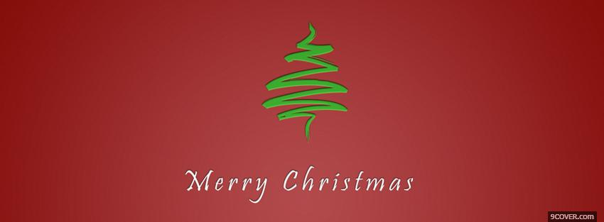 Photo simple merry christmas Facebook Cover for Free
