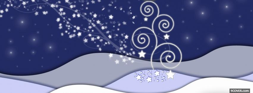 Photo dazzling snow stars and wind Facebook Cover for Free